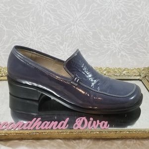 Browns Bravo blue patent leather loafers